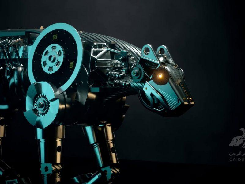 لوگو اینترو انیمیشن سه بعدی پارتیران : یوز پلنگ مکانیکی