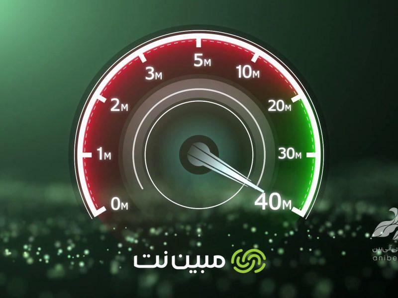 آگهی تبلیغاتی سرعت 40 مگابیت مبین نت