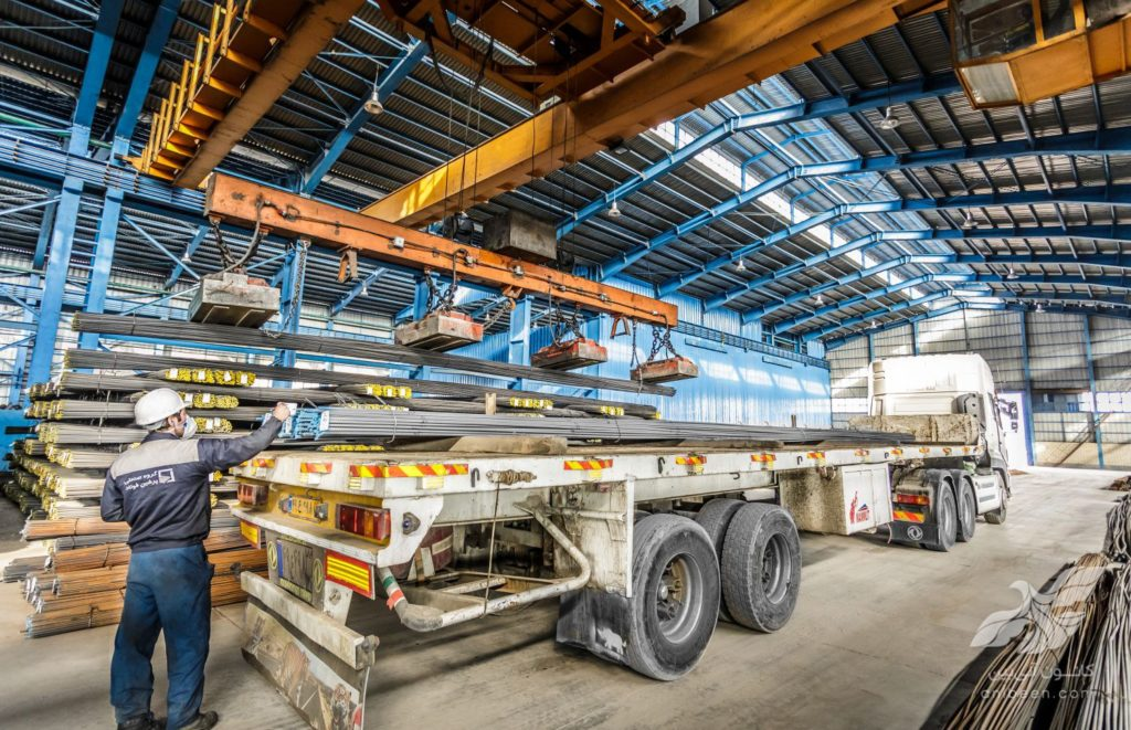 عکاسی صنعتی | کارخانه پرشین فولاد | بارگیری