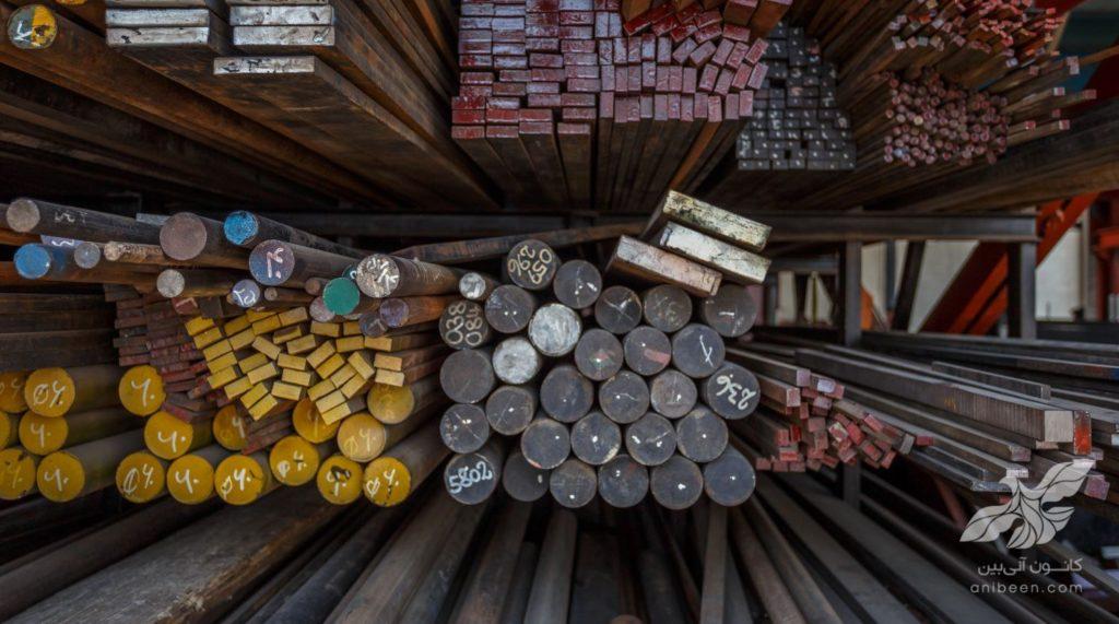 عکاسی صنعتی | انبار آهن و فولاد