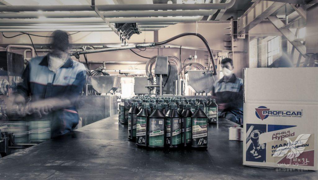 عکاسی صنعتی | کارخانه روغن موتور پروفی کار